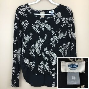 Old Navy Floral Blouse - Long Sleeve - Size XS